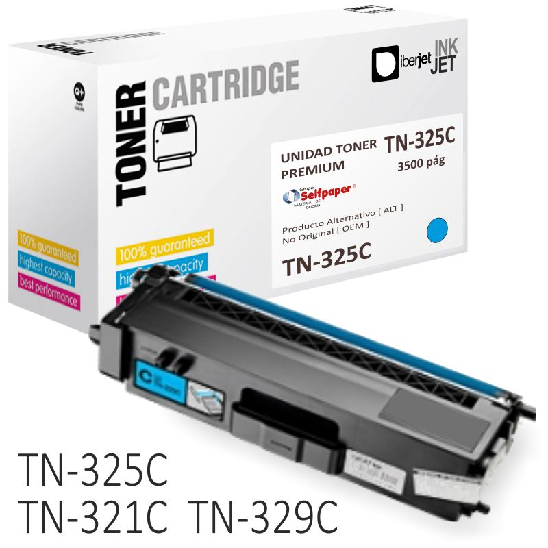 Comprar Toner Brother TN325C TN325M o TN325Y compatible - 3500 pag.