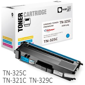 Toner Brother TN325C compatible color azul Cyan 3500 pag.