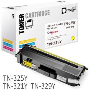 Toner Brother TN325C compatible color Amarillo 3500 pag.