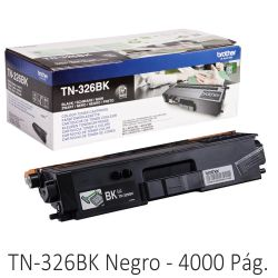 Toner Brother TN326BK, Original, Negro, 4000 Paginas