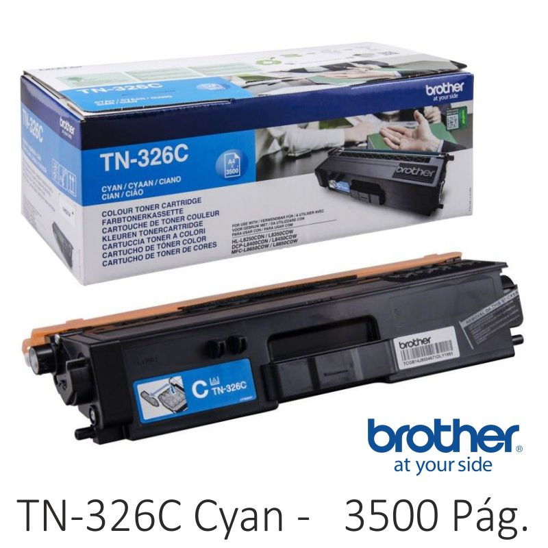 toner brother tn326c cyan azul, 3500 páginas