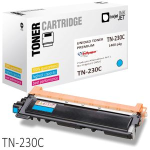 Toner compatible Brother TN230C color azul Cyan 1400 Paginas