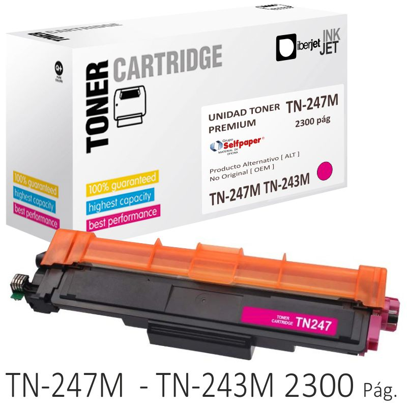 Toner Compatible Brother TN-247M TN-243 Magenta 2300 págs.