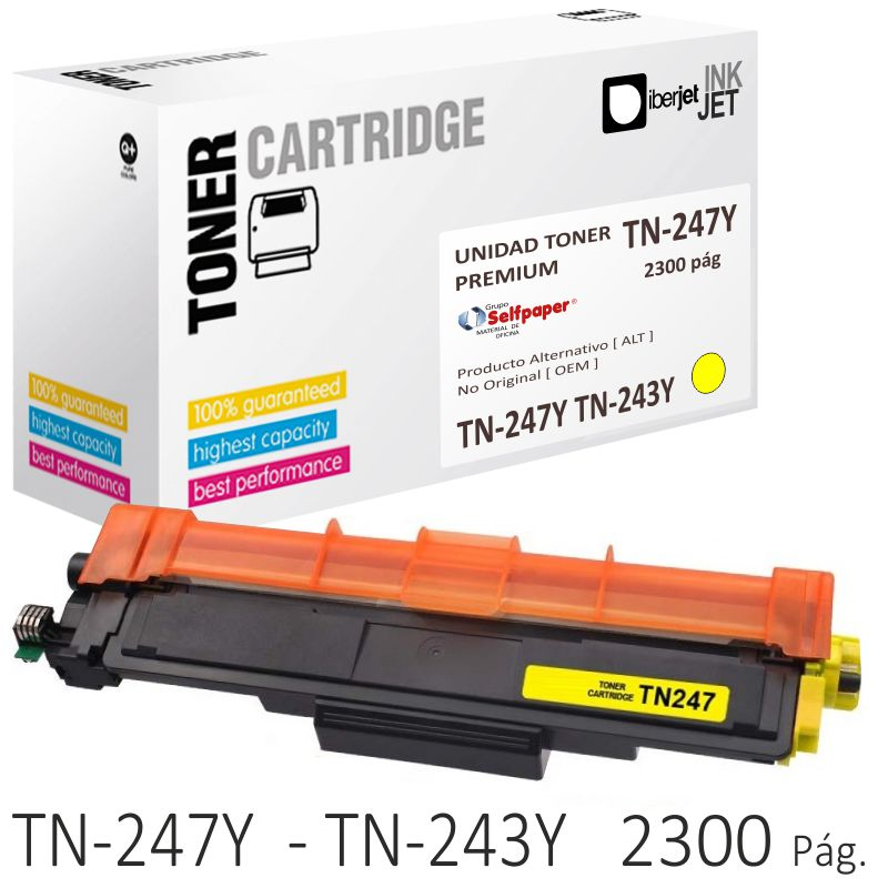 Toner Compatible Brother TN-247Y TN-243Y Amarillo 2300 Págs.