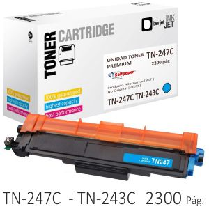Toner Compatible Brother TN-247C TN-243 azul Cyan 2300 págs.