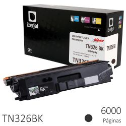 Toner Compatible Brother TN326BK Negro, 6000 Páginas