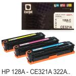 Toner Compatible HP 128A Color CE321A, CE322A o CE323A
