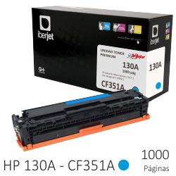 Toner Compatible HP CF351A 130A color azul Cyan 1000 Pags.