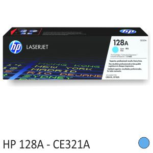 Toner HP CE321A, original HP 128A color azul Cyan