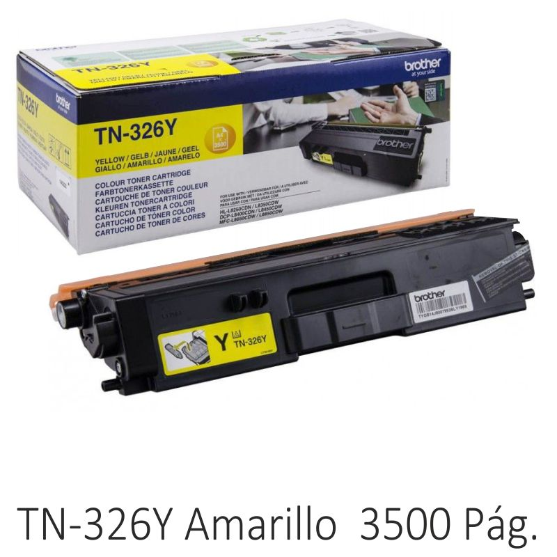 Toner Original Brother TN326Y Amarillo