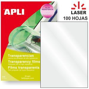 Transparencias impresora laser Apli