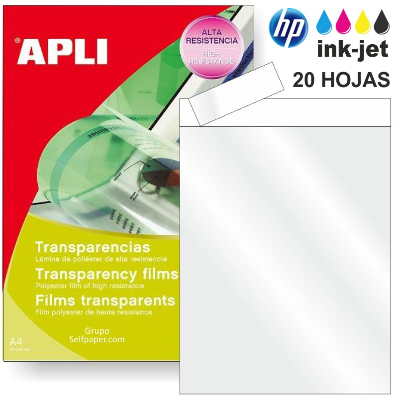 Transparencias Inkjet borde papel
