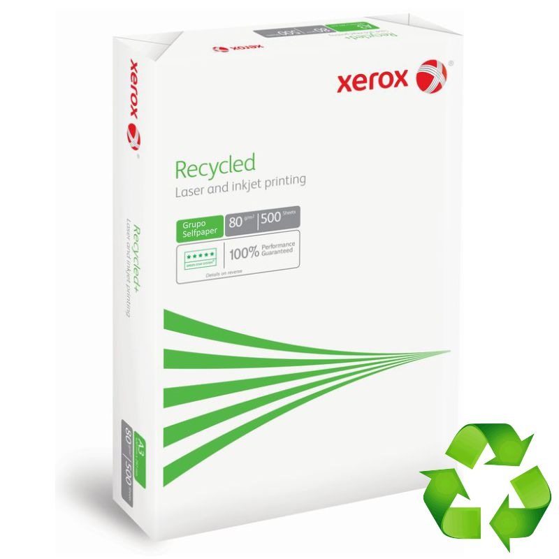 xerox recycled papel reciclado din a4 folios 500